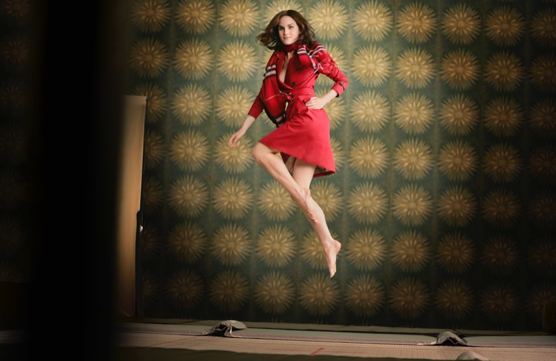 Michelle Dockery for Burberry Festive film
