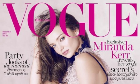 Miranda Kerr on Vogue Thailand December 2015 cover