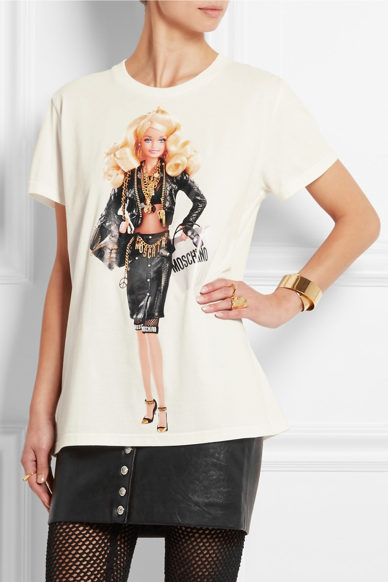 Moschino x Barbie Print Cotton T-Shirt