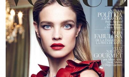 Natalia Vodianova on Vogue Spain December 2015 cover