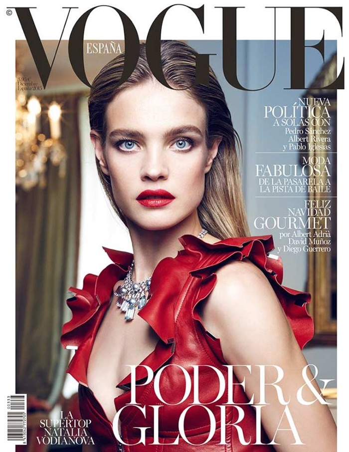 Natalia Vodianova is a Vision in Red on Vogue Spain Cover