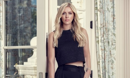 Nicky Hilton models Linea Pelle handbag collaboration