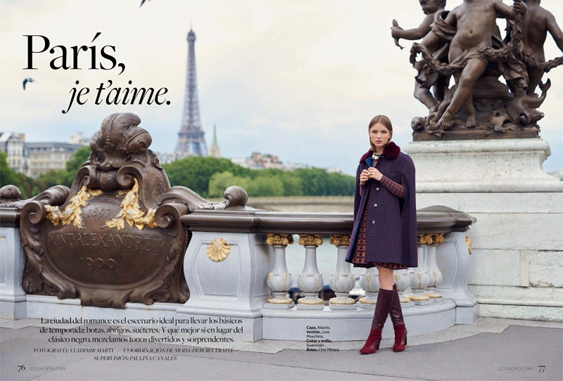 Ira Sumbayeva stars in Cosmopolitan Mexico's November issue