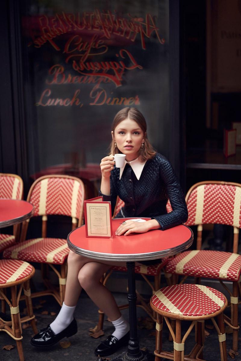 Vladimir Marti captures the model in Parisian inspired style