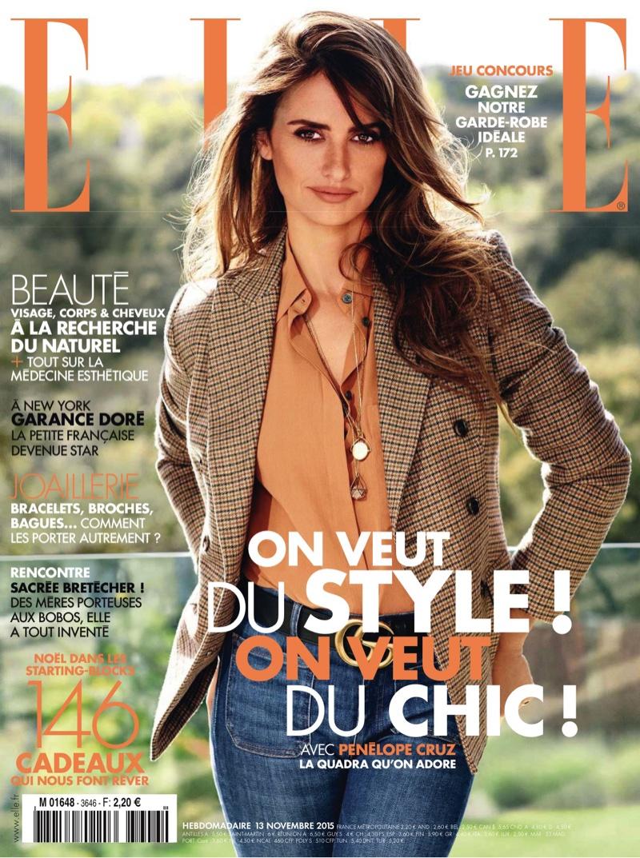 Penelope Cruz Stars In ELLE France`s November 2015
