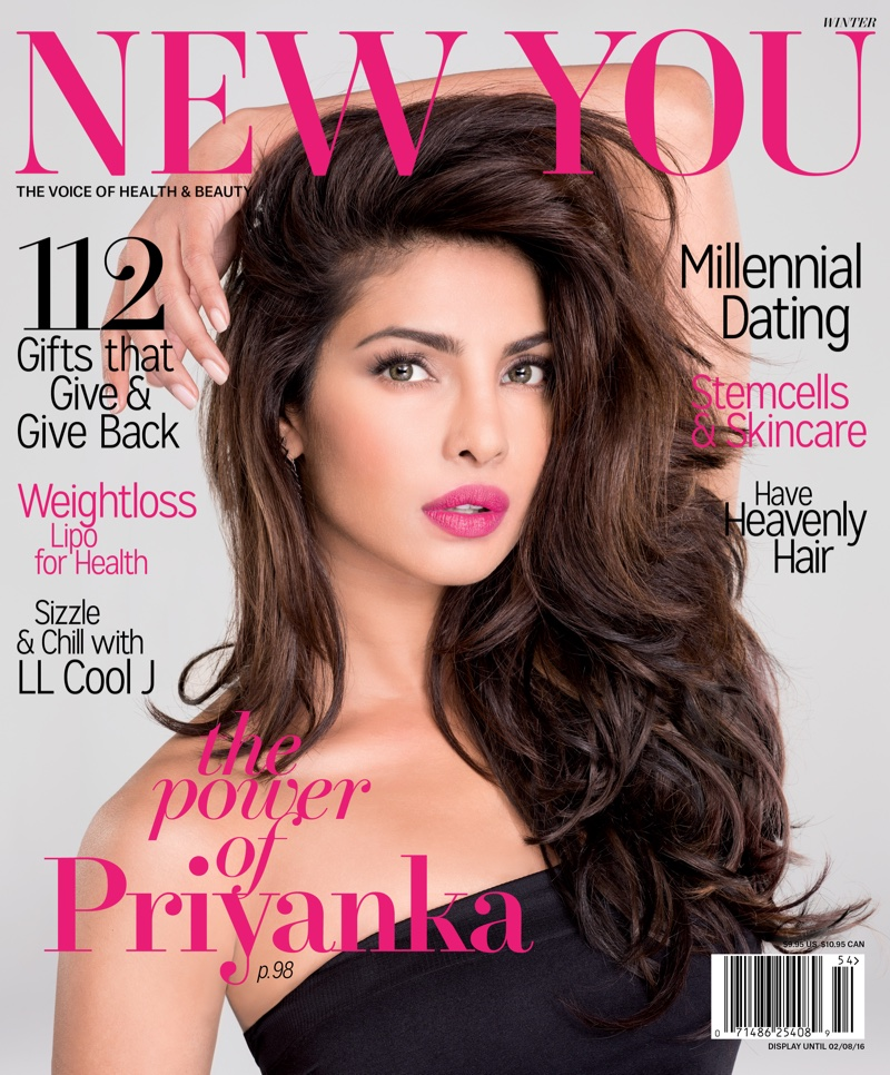 Priyanka Chopra on New You winter 2015 cover