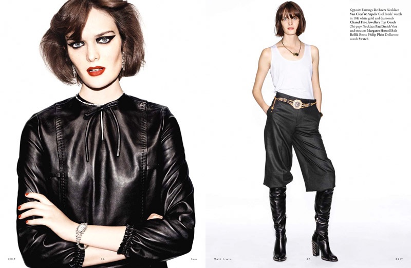 Sam Rollinson Dresses Up for Exit Magazine Editorial
