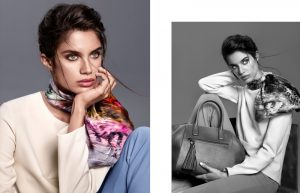 Sara Sampaio Wears the Statement Scarf in Aker's Fall Campaign
