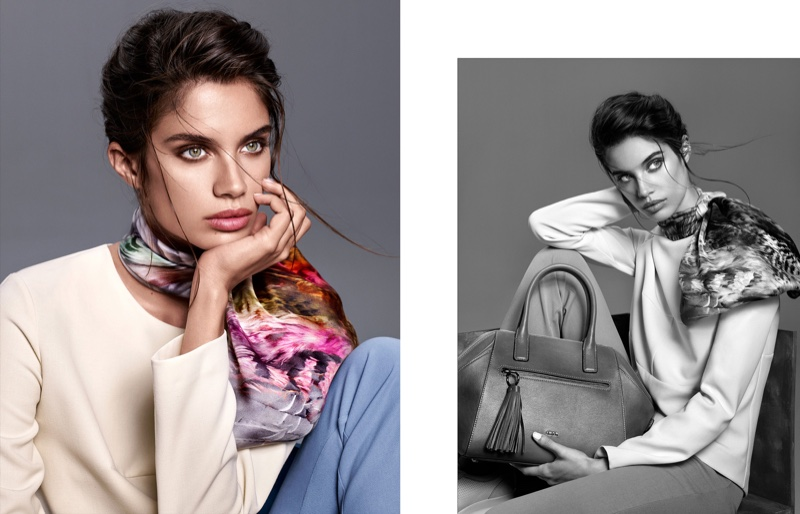 Sara Sampaio Wears The Statement Scarf In Aker's Fall-winter 2015 Campaign
