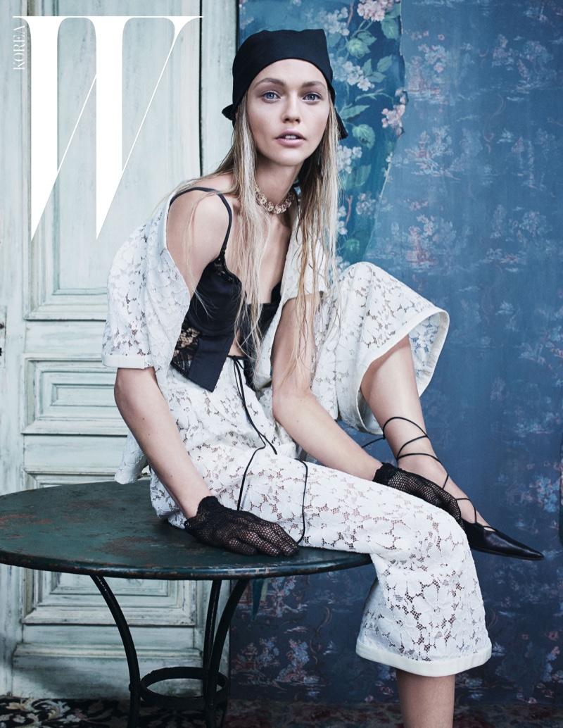 Sasha Pivovarova Goes Cruising in Chanel for W Korea