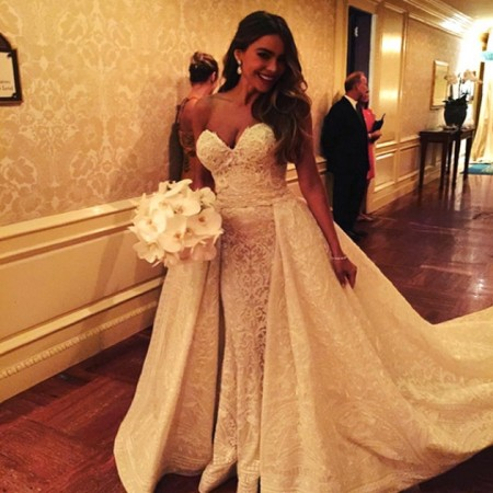 Sofia Vergara Gets Married - See Her Zuhair Murad Dress!