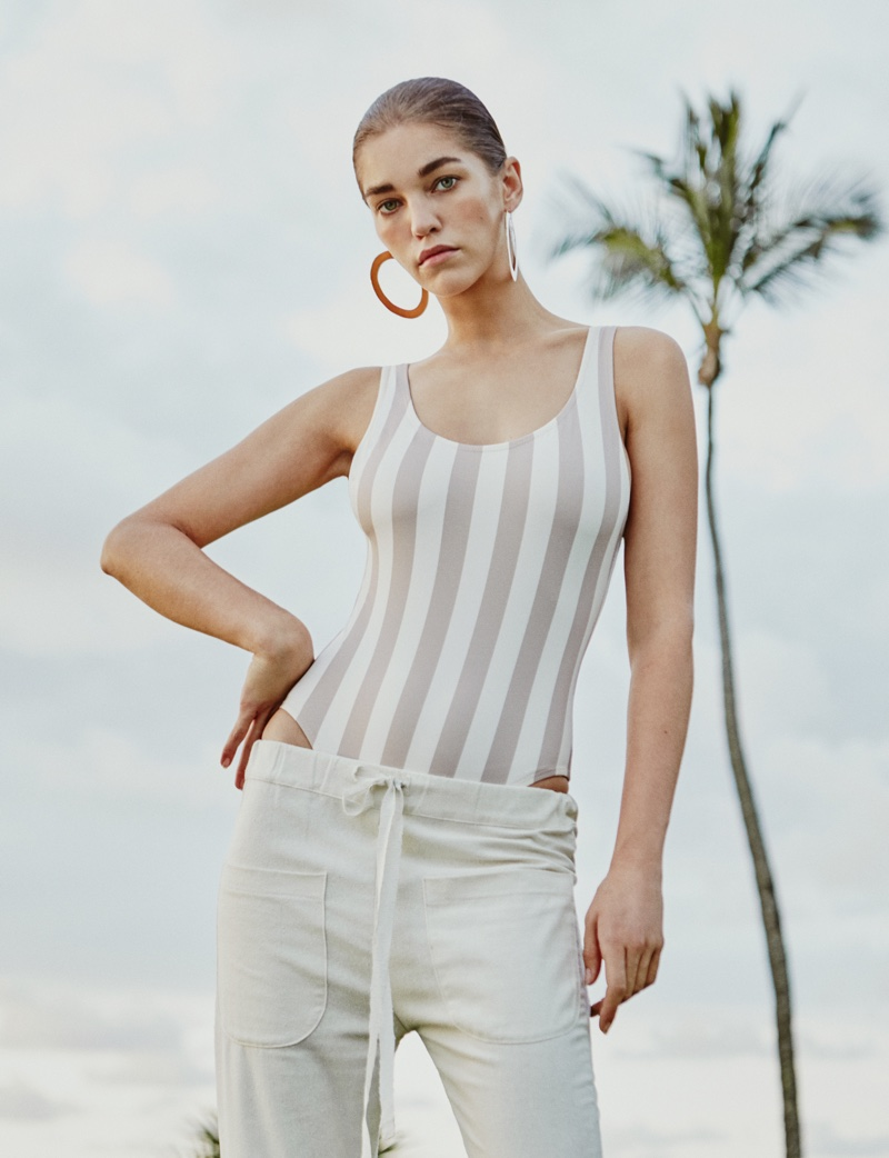Samantha Gradoville - Minimal Swim: Solid & Striped Reveals Resort 2016 Styles