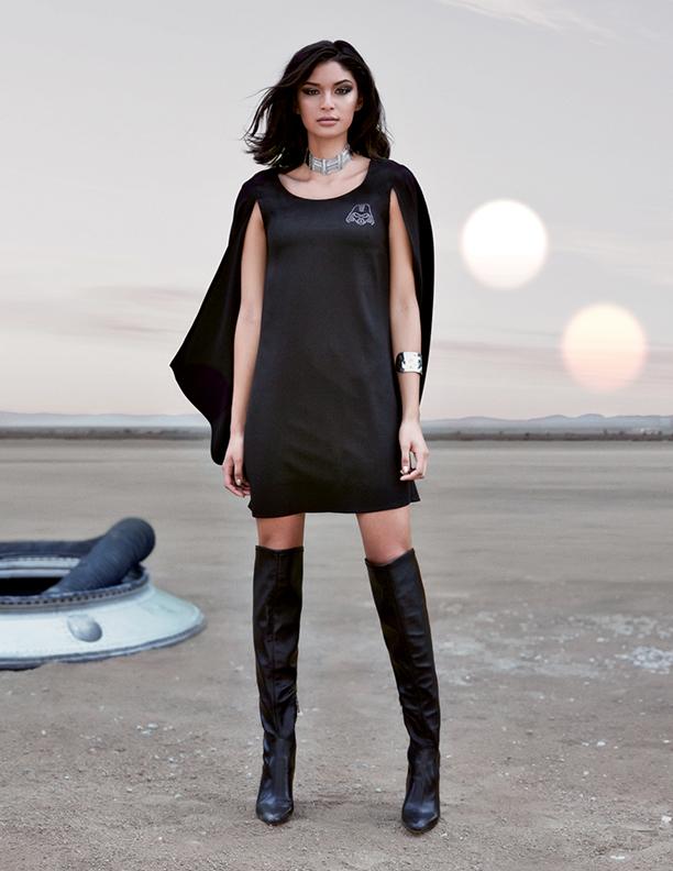 Star Wars Darth Vader Cape Dress in Black