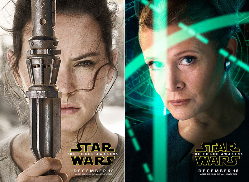 Carrie Fisher, Daisy Ridley Get Solo Posters for 'Star Wars: The Force Awakens'