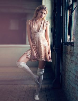 Stella Maxwell Wears Dreamy Dresses for Urban Outfitters' Holiday Story