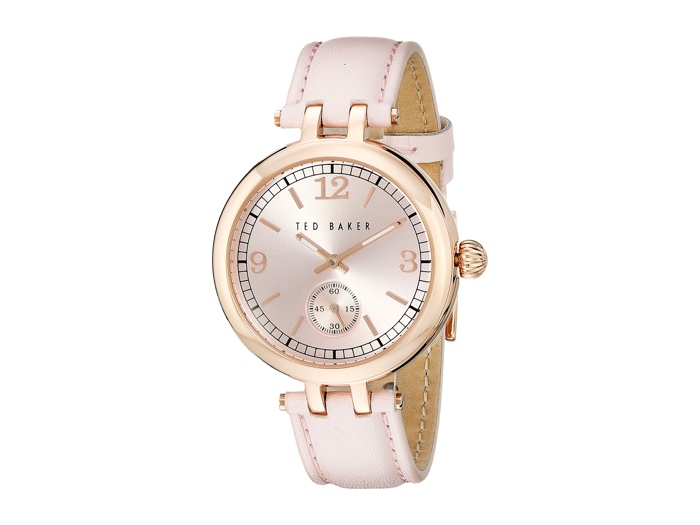 Ted Baker Pink Watch with Leather Strap
