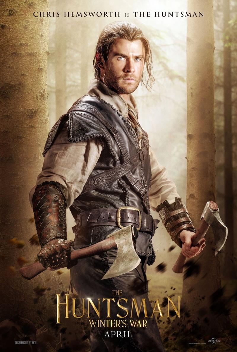 Chris Hemsworth as The Huntsman