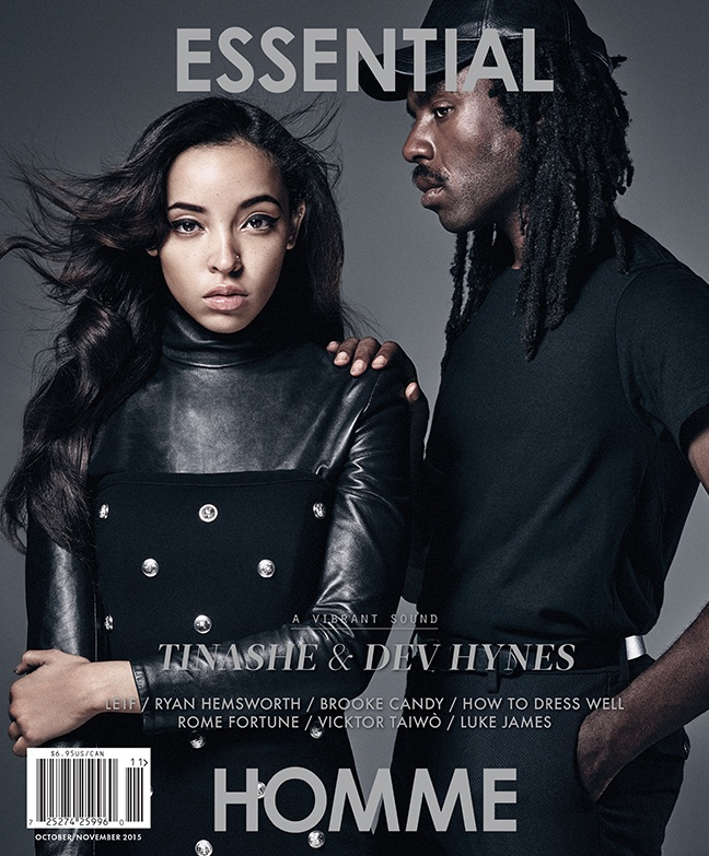 Tinashe and Dev Hynes on Essential Homme October-November 2015 cover