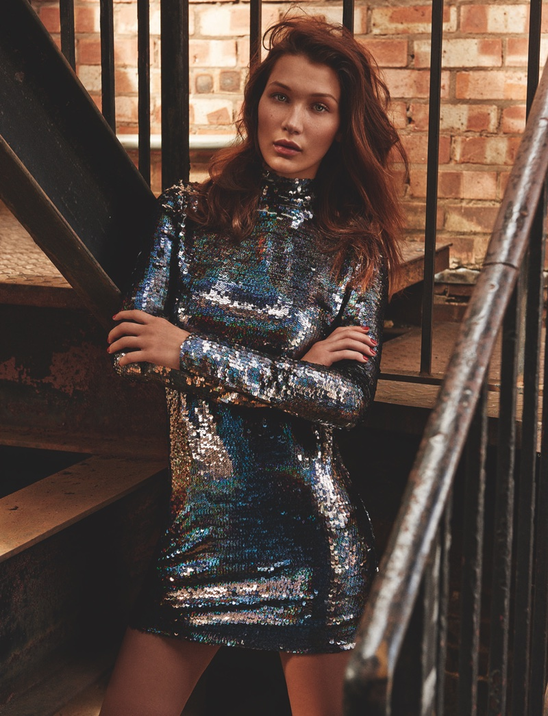 Bella Hadid stars in Topshop's holiday 2015 campaign