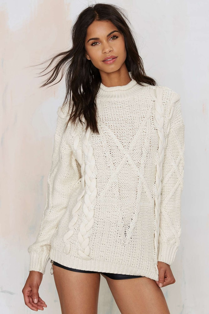 UNIF Cable Knit Sweater available for $98.00