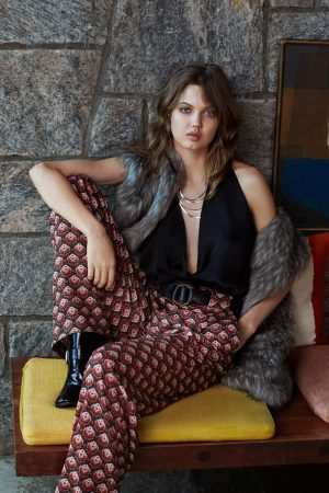 Lindsey Wixson is 70s Glam in Urban Outfitters' Holiday Looks