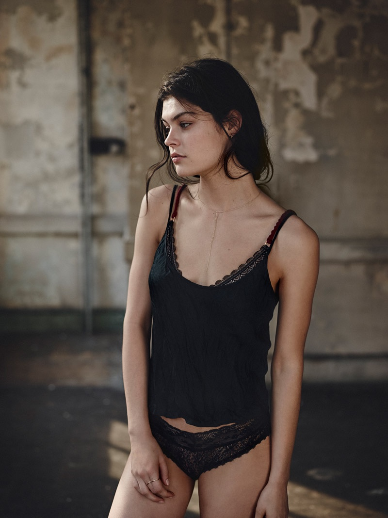 Silence + Noise Kate Rumpled Cami, Cara Mixed Lace Cheeky Hipster