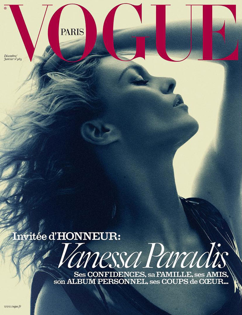 Vanessa Paradis Stars on Three Vogue Paris Covers