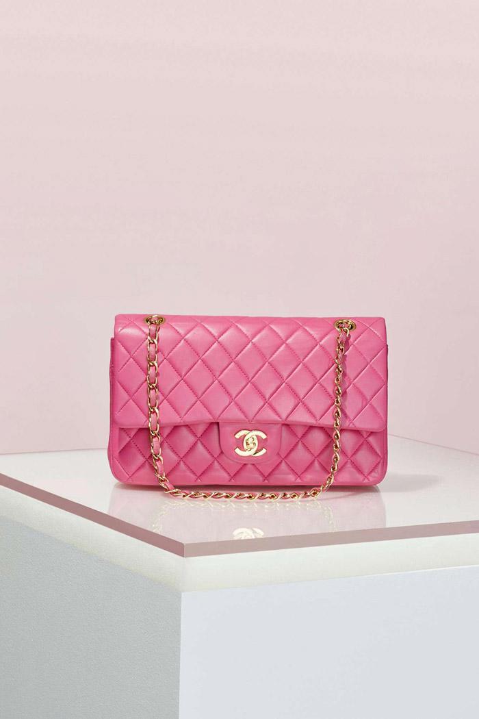 Vintage Chanel 2.55 Pink Leather Bag