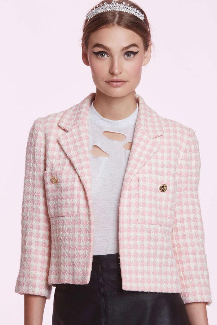 Vintage Chanel Francine Pink Tweed Blazer