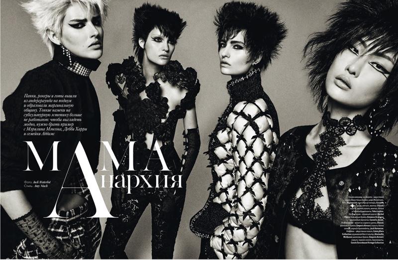 Jack Waterlot Captures Rocker Chic Fashion - Vogue Ukraine November 2015