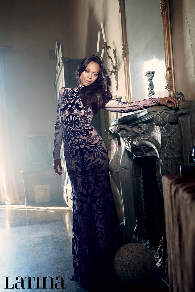 Zoe Saldana Poses for Latina Magazine, Talks 'Nina' Biopic