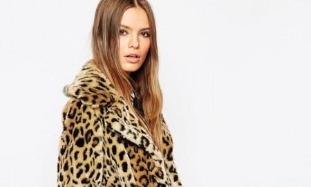 ASOS Faux Fur Leopard Print Coat