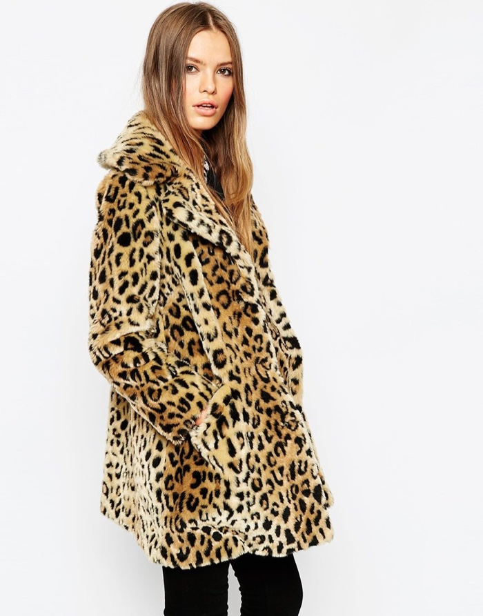 Our favorite way to make a statement = this leopard-print faux-fur coat (that's seriously soft and warm too). For more ways to wear it, watch our Style Hacks video now.