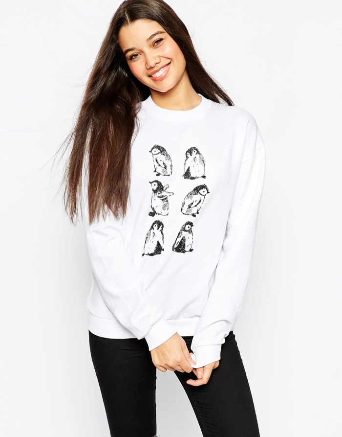 ASOS Sketchy Penguin Sweatshirt