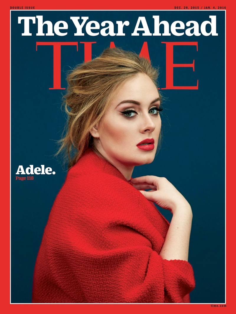 Adele on Time Magazine December 28, 2015 cover