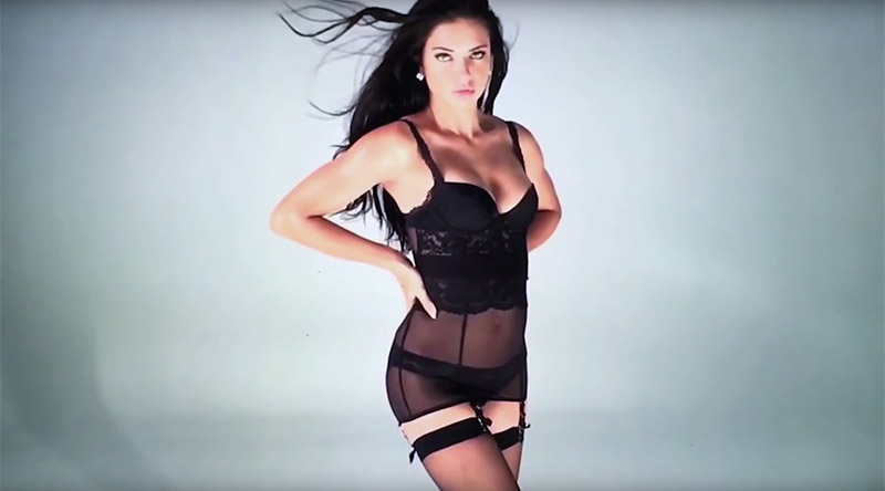 Adriana Lima Dons Black Hosiery in Sultry LOVE Video