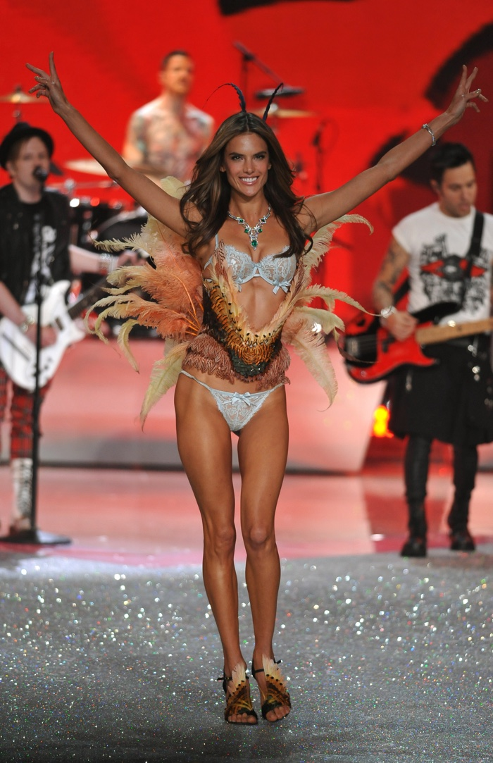 Alessandra Ambrosio glitters at the 2013 Victoria's Secret Fashion Show with Fallout Boy playing in the background. Photo: FashionStock.com / Shutterstock.com