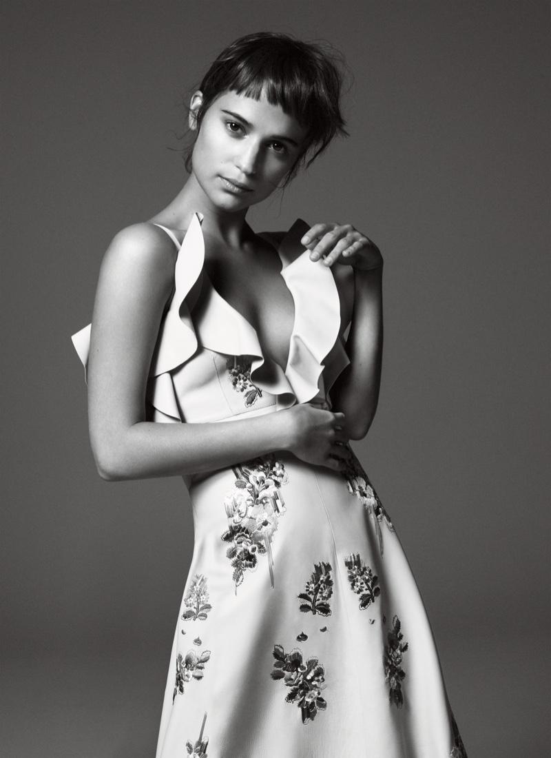 Alicia Vikander stars in Vogue's January issue