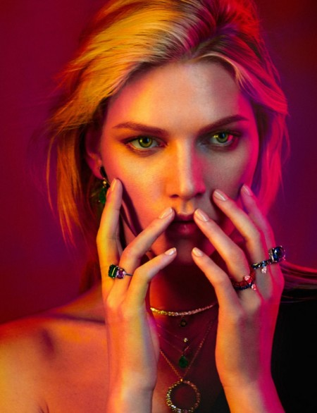Aline Weber Shines in Jewelry Looks for Rabat Magazine by Xavi Gordo