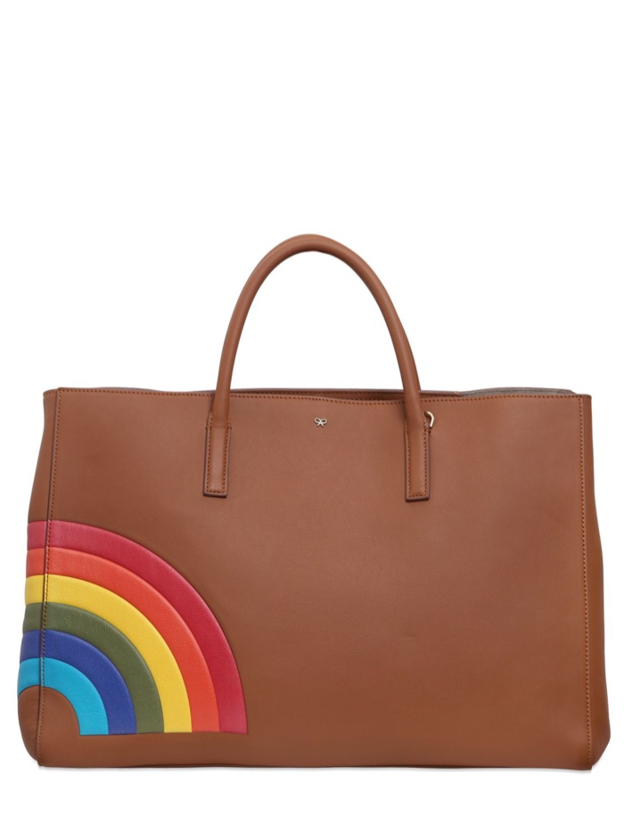 Anya Hindmarch Rainbow Embossed Leather Bag