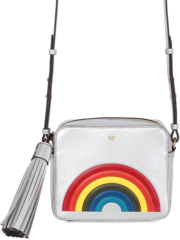 Anya Hindmarch Rainbow Metallic Leather Shoulder Bag