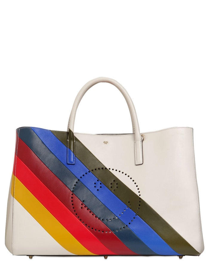 Anya Hindmarch Rainbow Smiley Tote Bag