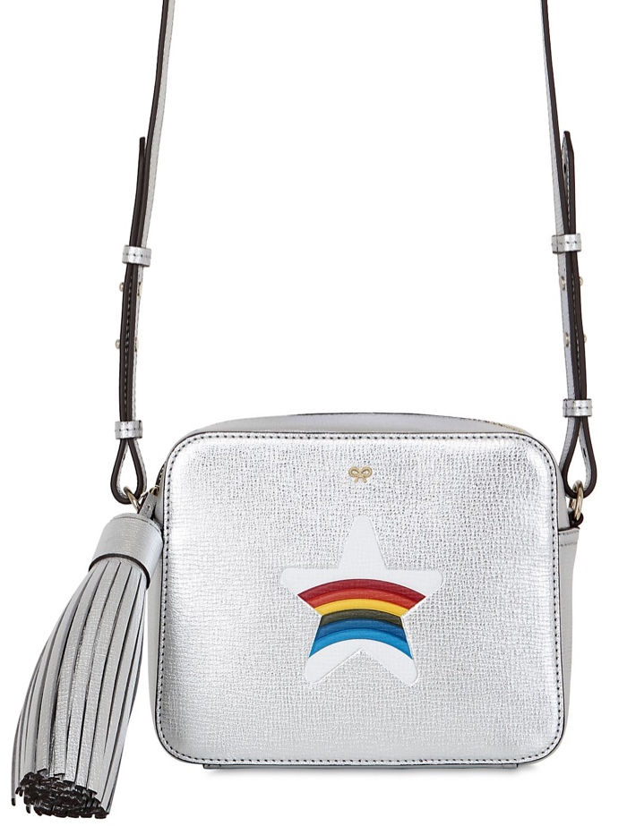Anya Hindmarch Star Leather Metallic Shoulder Bag