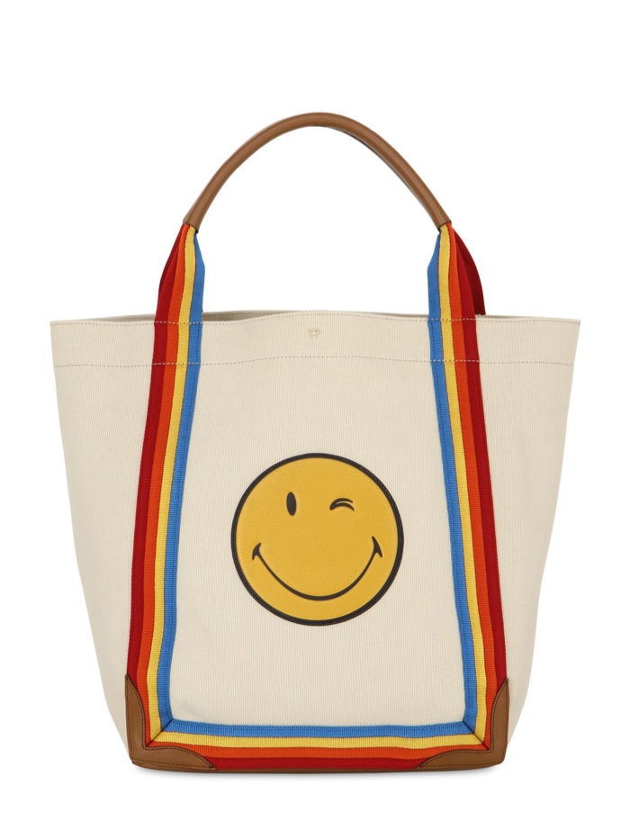 Anya Hindmarch Winking Smiley Rainbow Tote