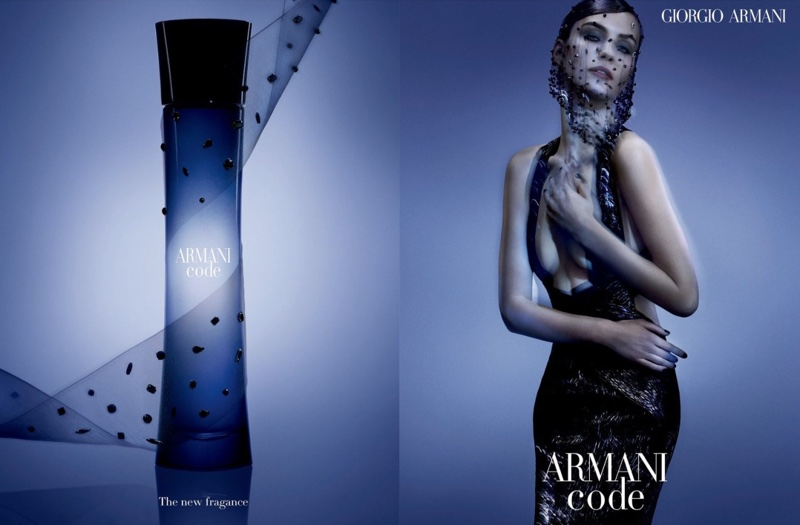 Armani Code Satin perfume campaign