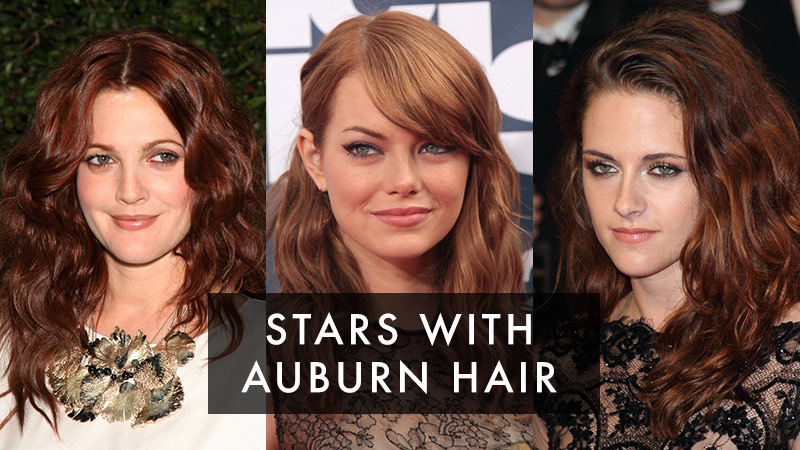 Discover stars that have auburn hair color