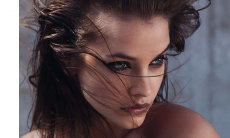 Barbara Palvin wears messy hairstyles in the photo spread