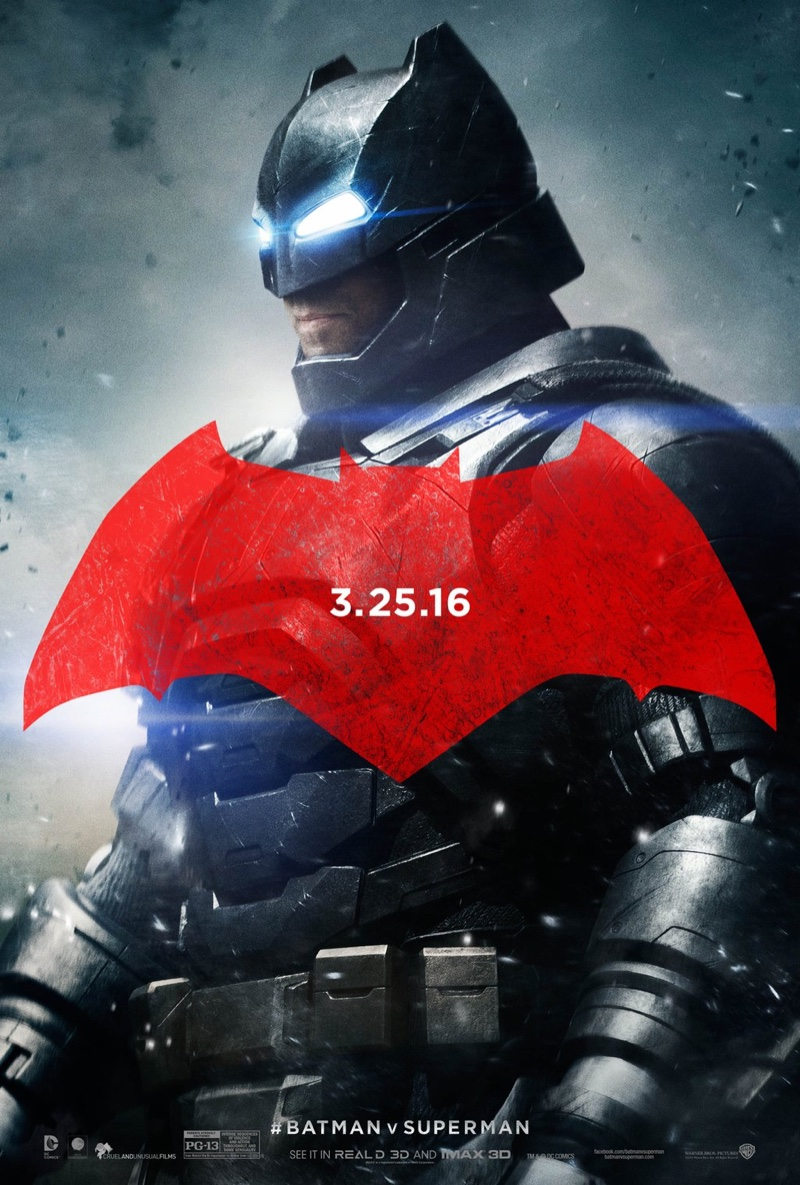 Ben Affleck on Batman v Superman poster