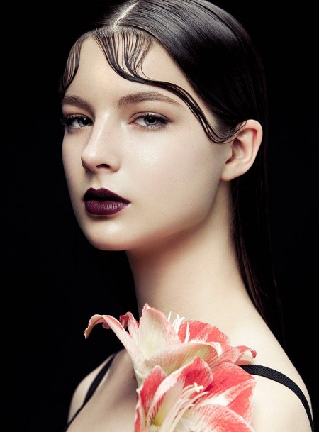 Flowers & Kiss Curls: Zhang Jingna Shoots BAZAAR Vietnam Beauty