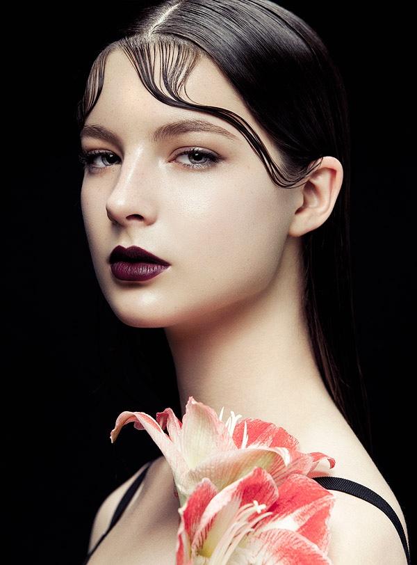 Flowers & Kiss Curls: Zhang Jingna Shoots BAZAAR Vietnam Beauty